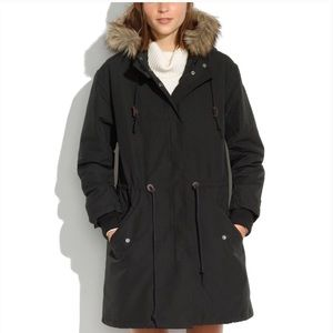 Madewell cold weather parka with removable vest